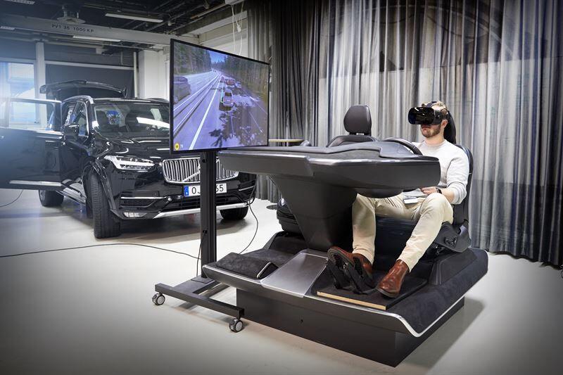 Volvo Carsin uusi ajosimulaattori hyödyntää uusinta peliteknologiaa turvallisempien autojen kehitystyössä