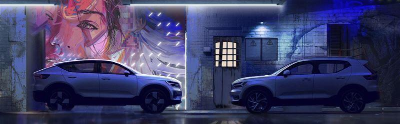 Volvo C40 Recharge -mallin muotoilu on yhdistelmä Skandinavian luonnonrauhaa ja sähköistä tulevaisuutta