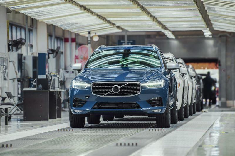 Volvo Carsin Chengdun autotehdas hyödyntää 100 prosenttisesti uusiutuvaa sähköä